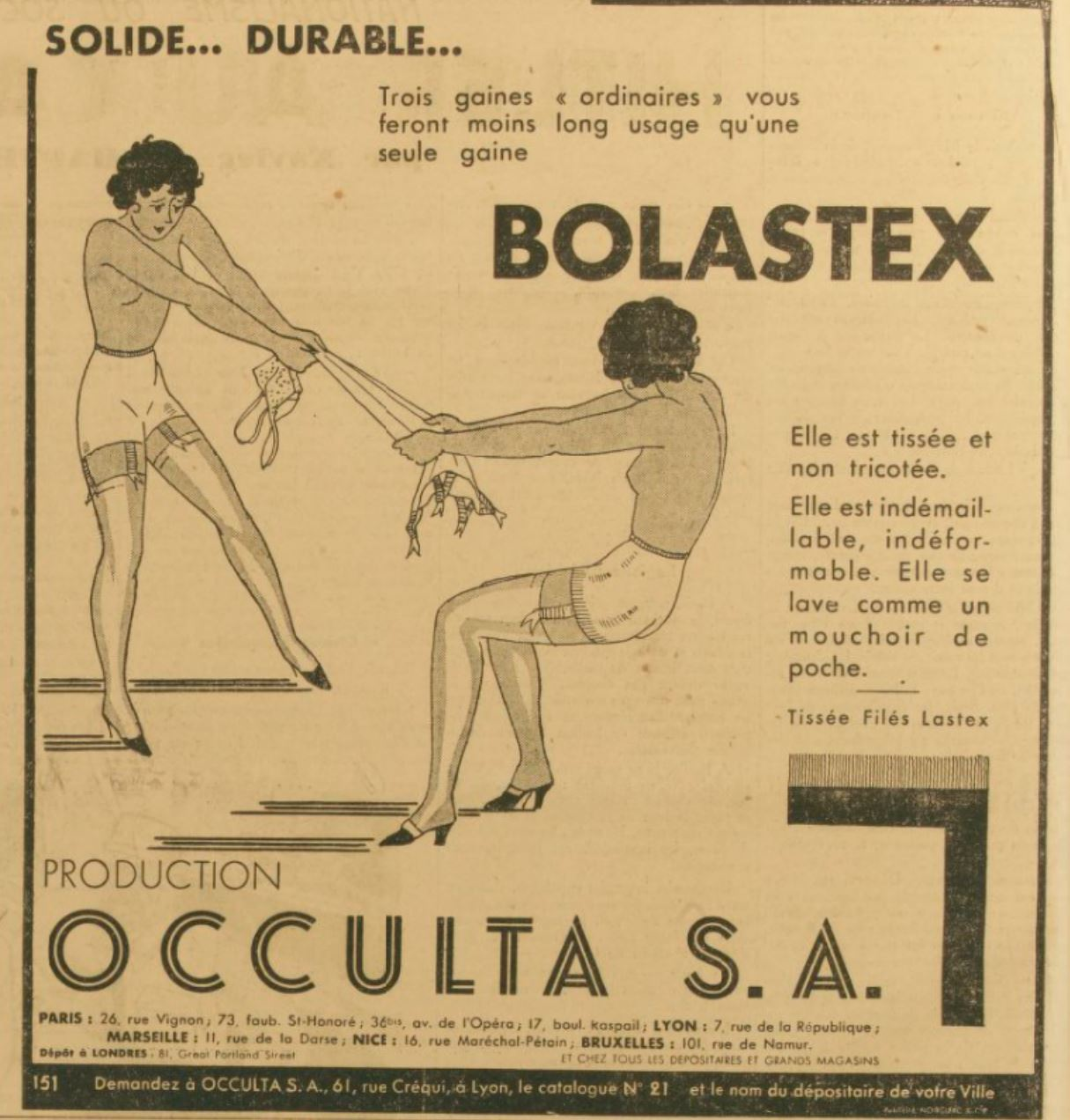 Occulta 1934 Bolastex Gringoire 26 octobre