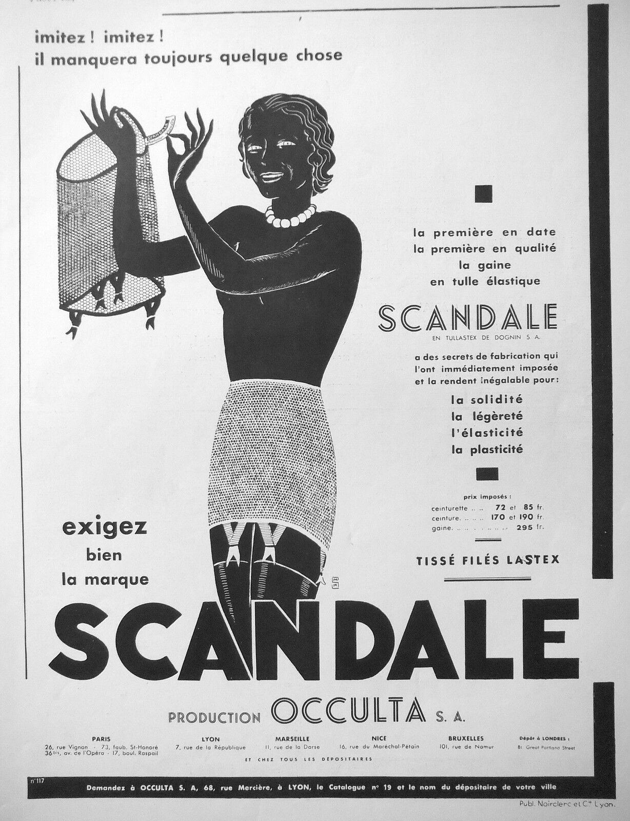 Occulta 1934 Scandale La-Gaine-En-Tulle m-s-de-saint-marc