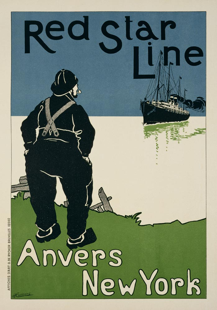 Red Star Line. D'Anvers a New York, Cassiers, Henry