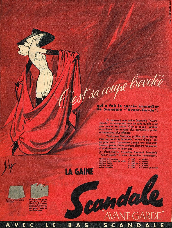 SCANDALE 1955 Diaz la gaine avant- garde A1 C'est sa coupe brevetee