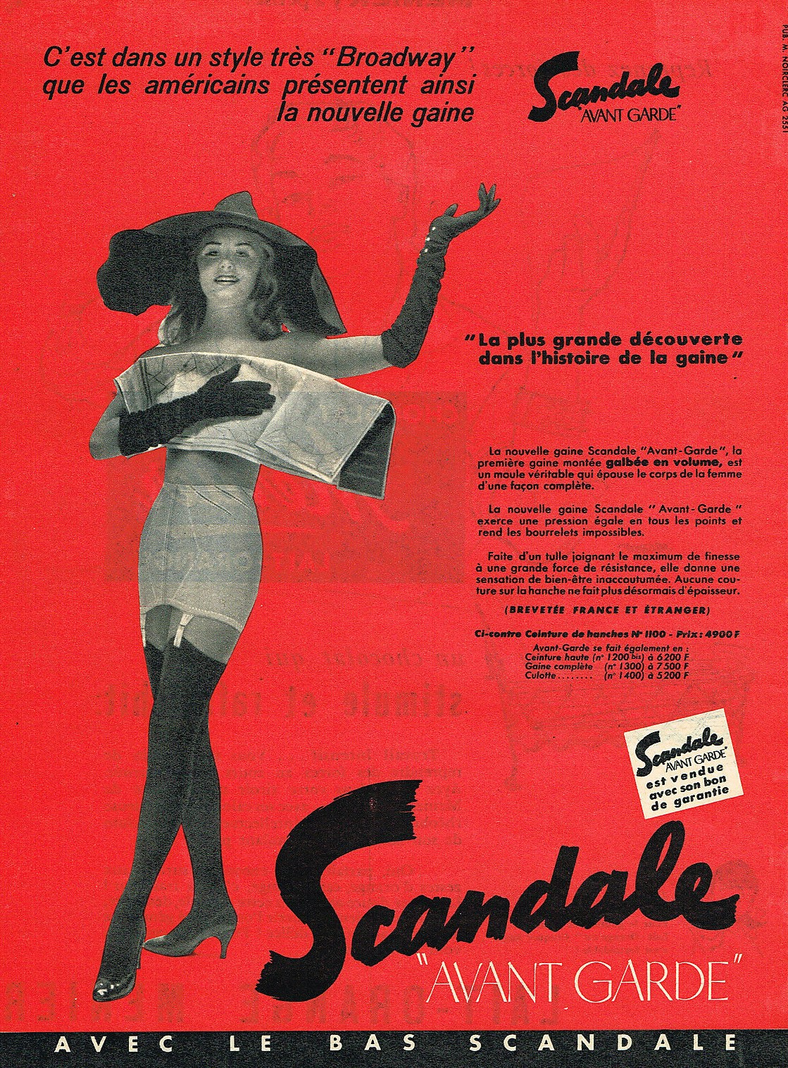 SCANDALE 1955 gaine avant garde