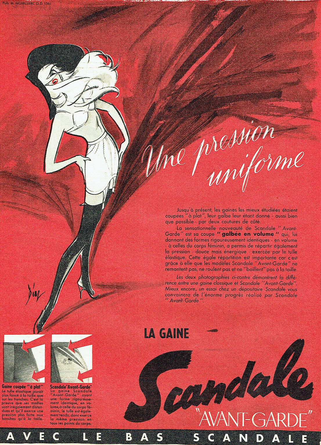 SCANDALE 1956 Diaz la gaine avant- garde B2 Une pression uniforme