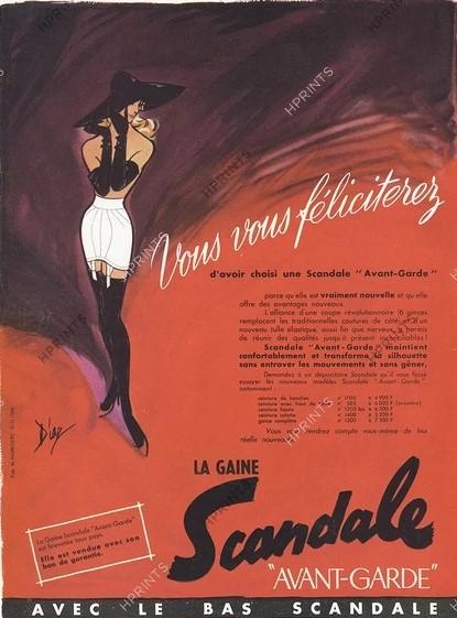 SCANDALE 1956 Diaz la gaine avant- garde B4 hprints