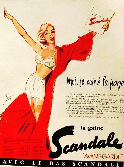 SCANDALE 1956 Diaz la gaine avant-garde C1 Moi je suis a la page