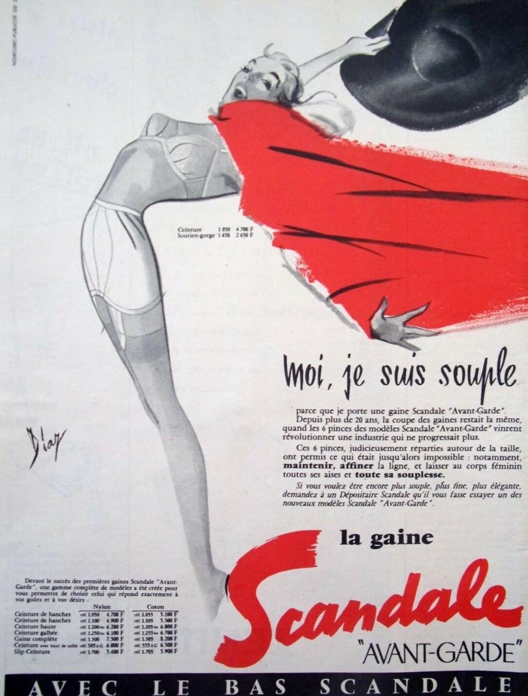 SCANDALE 1956 Diaz la gaine avant-garde C3 Moi je suis souple