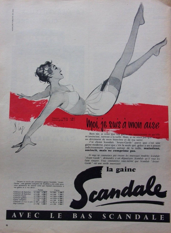 SCANDALE 1957 Diaz La gaine scandale Moi je suis a mon aise