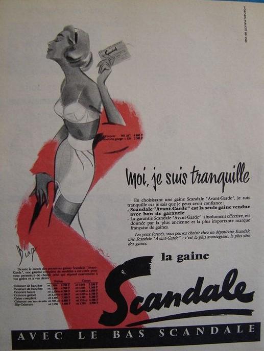 SCANDALE 1957 Diaz La gaine scandale Moi je suis tranquille