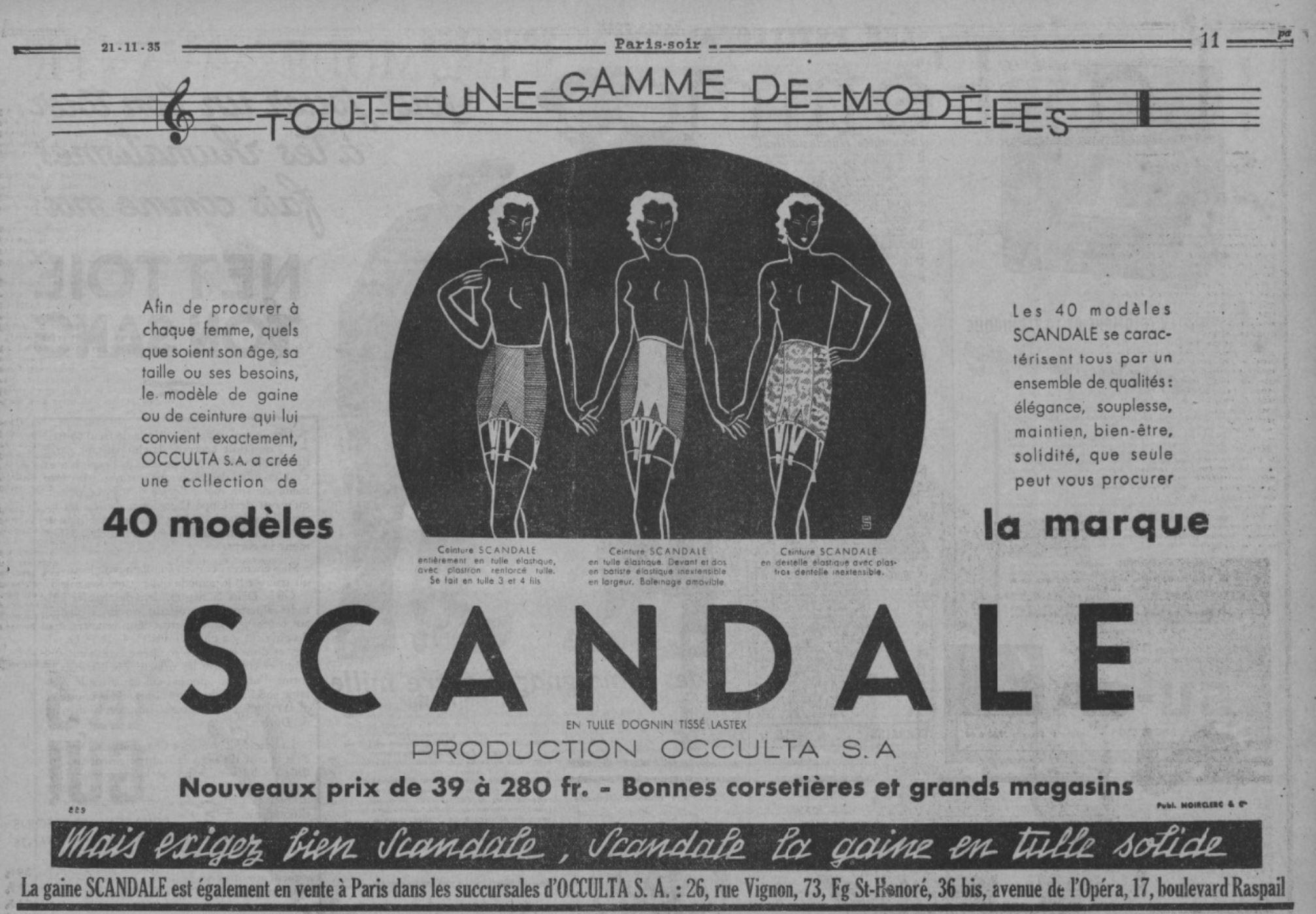Scandale 1935 Paris Soir 21 novembre