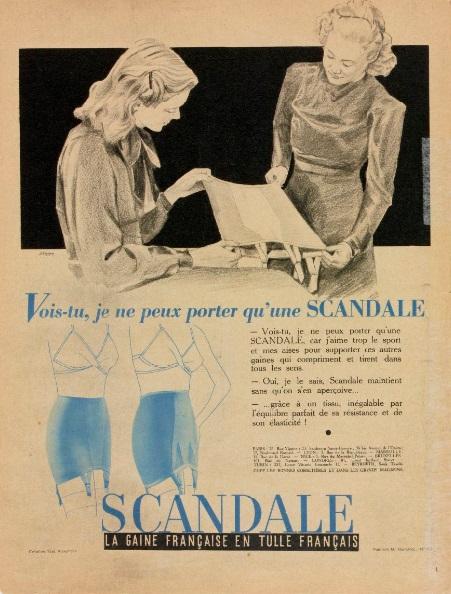 Scandale 1940 Starr Vois-tu je ne peux porter qu'une Scandale Marie-Claire 10 mai