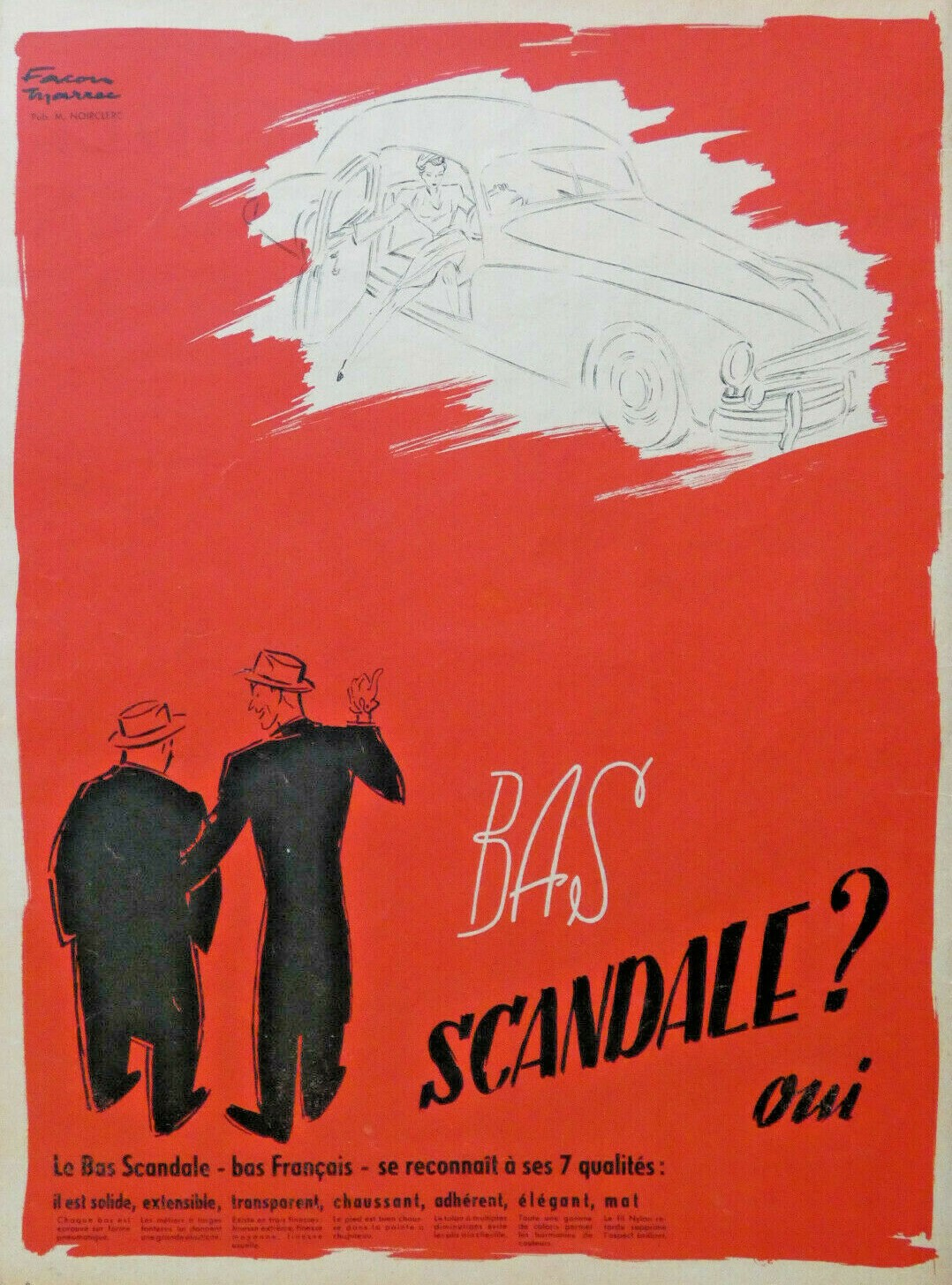 Scandale 1951 Bas Facon Marrec A