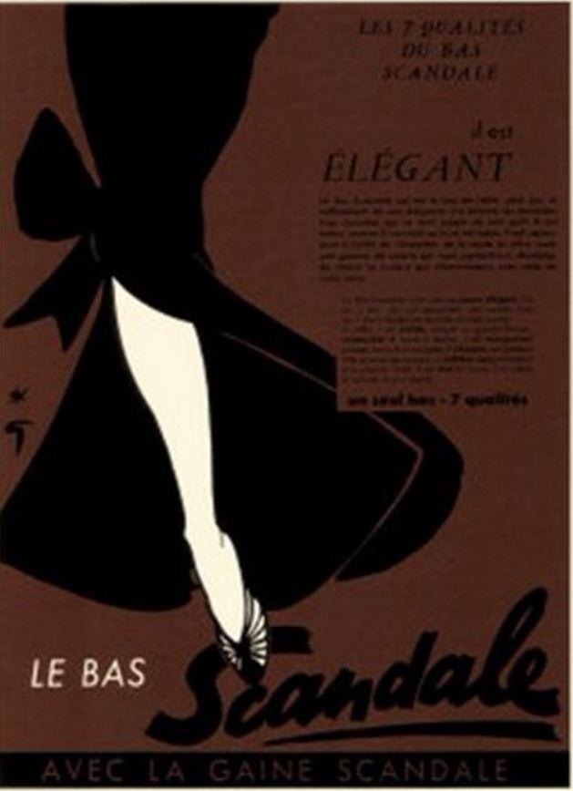 Scandale 1952 Gruau Q5 Elegant