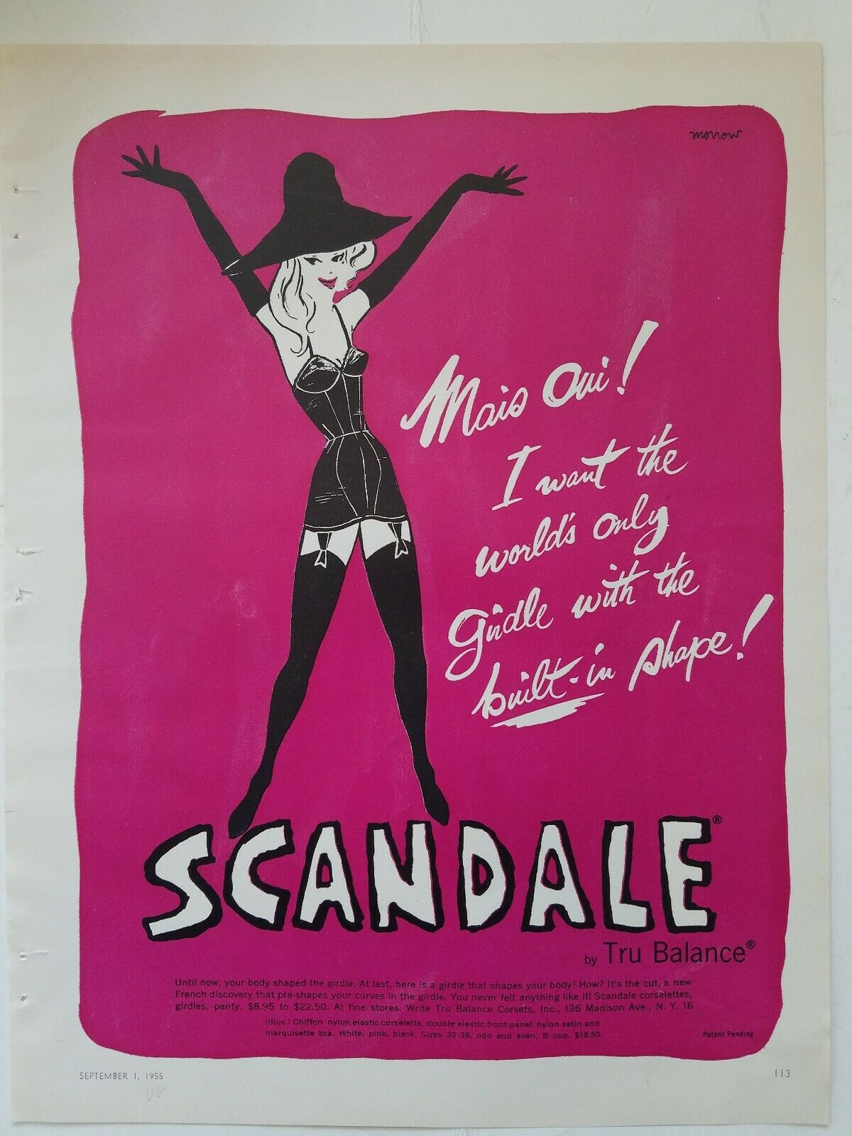 Scandale 1955 US Morrow tru-balance A1