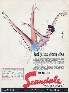 Scandale 1956 Blonde A3 Moi je suis a mon aise
