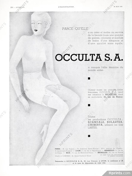occulta SA 1935 scandale Illustration Mai