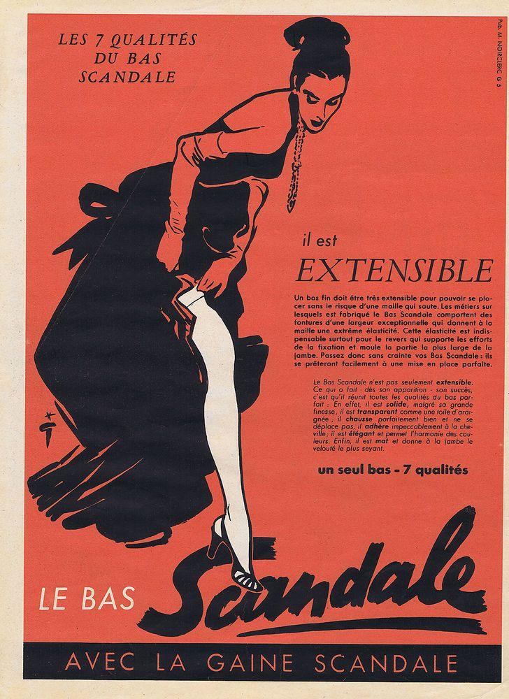 scandale 1952 Gruau Q7a extensible