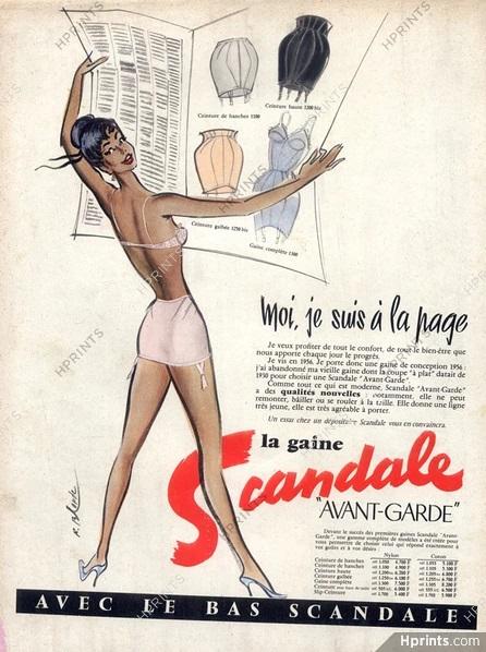 scandale 1956 blonde A1 Moi je suis a la page hprints