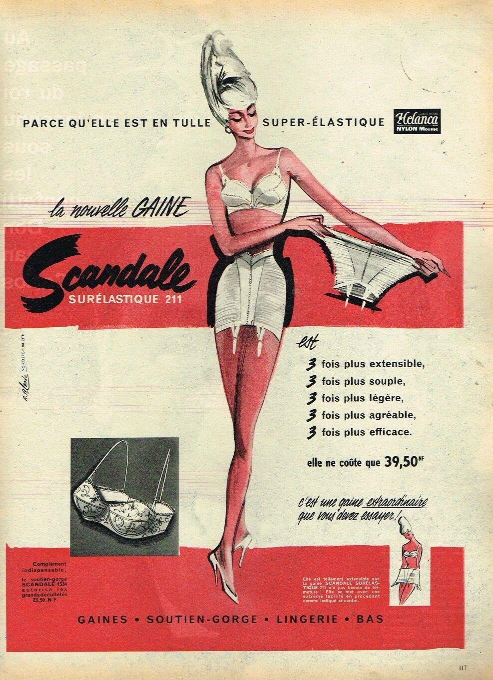scandale 1960 roger blonde Surelastique 211 A1