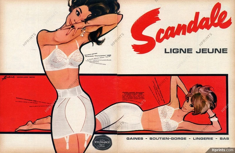 scandale 1963 Pierre Couronne A3 hprints
