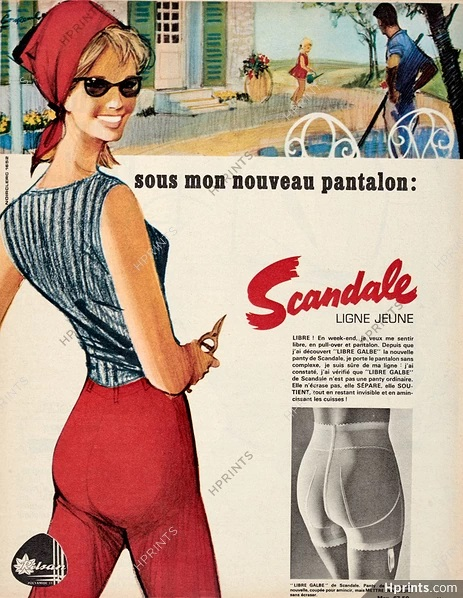 scandale 1965 pierre-couronne A3 pantalon hprints