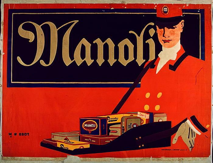 1911 Hans Rudi Erdt Manoli Cigarettes