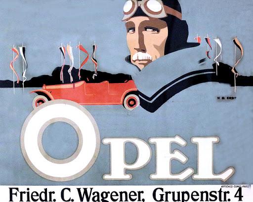 1911 Hans Rudi Erdt OPel version complete Hannover. Springel Museum