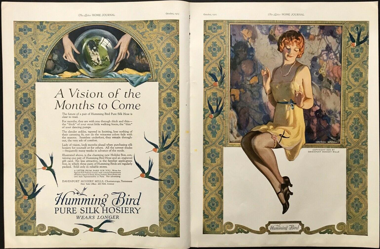 1925 HUMMINGBIRD PURE SILK HOSIERY