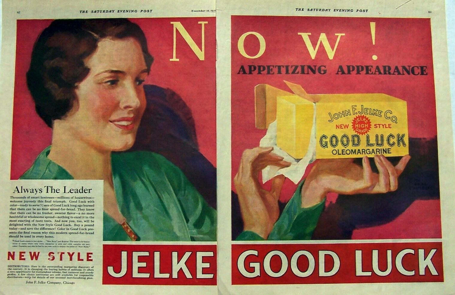 1930 Jelke Oleomargarine