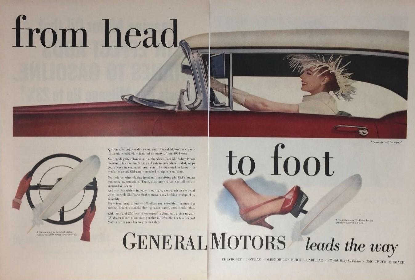 1954 GENERAL MOTORS de la tete aux pieds
