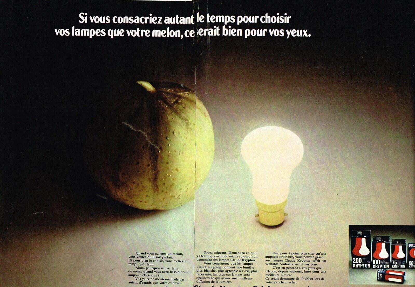 1974 Ampoules Krypton Claude