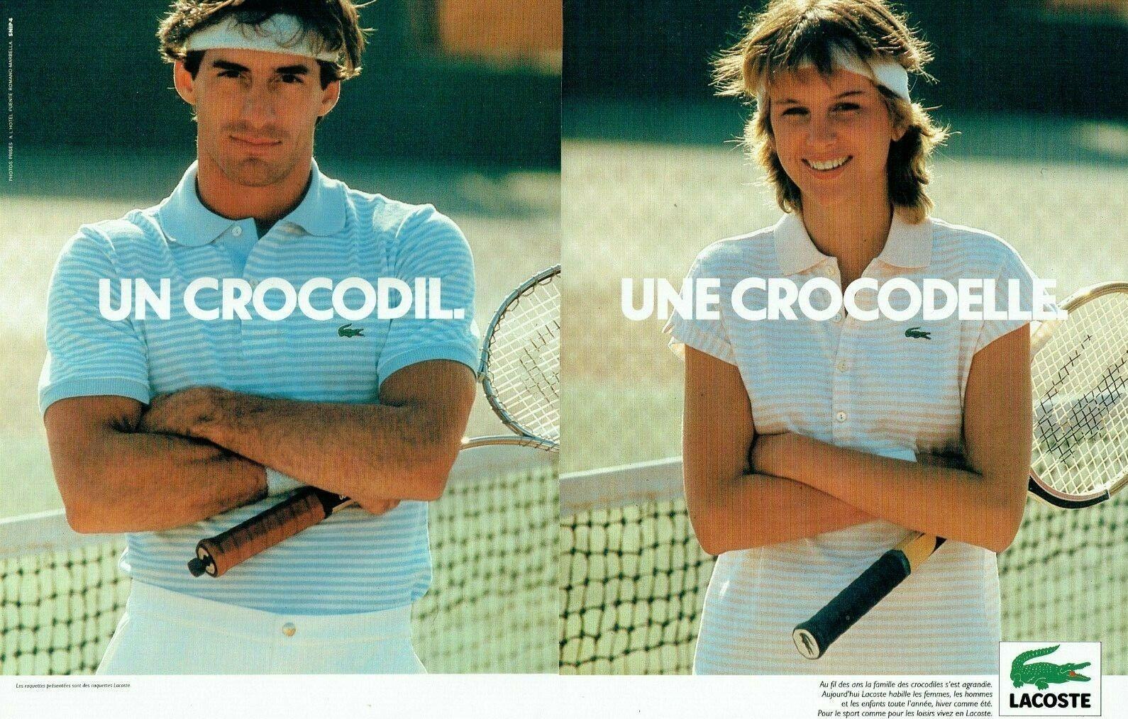 1981 les polos tennis Lacoste