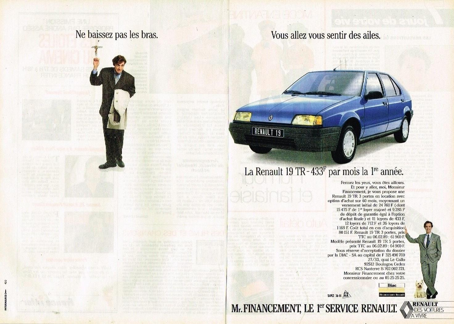 1989 Renault Financement Renault 19 TR