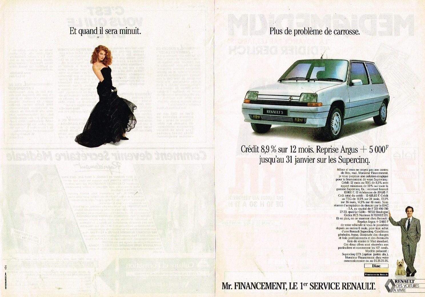 1989 Renault Financement Renault 5 Supercinq A2