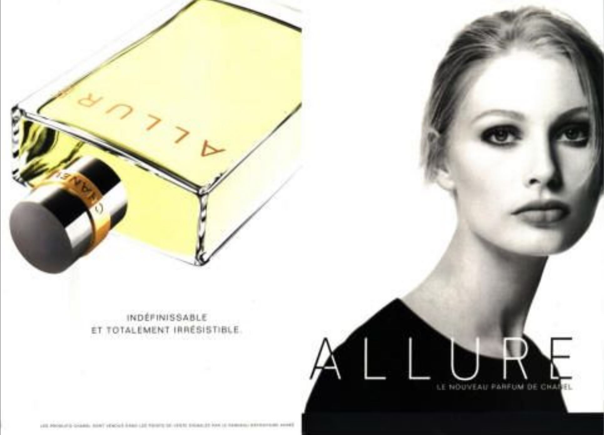 parfum Channel Allure 1997 model kirsty hume inverse