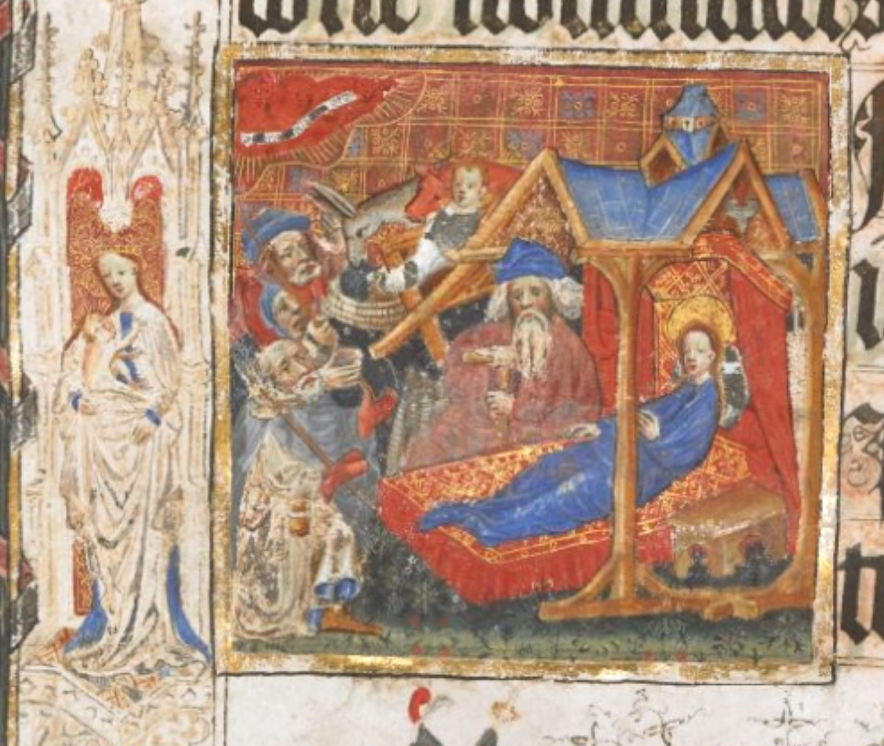 Adoration des Bergers Lovell Lectionary 1400-10 BL Harley 7026 fol 6r