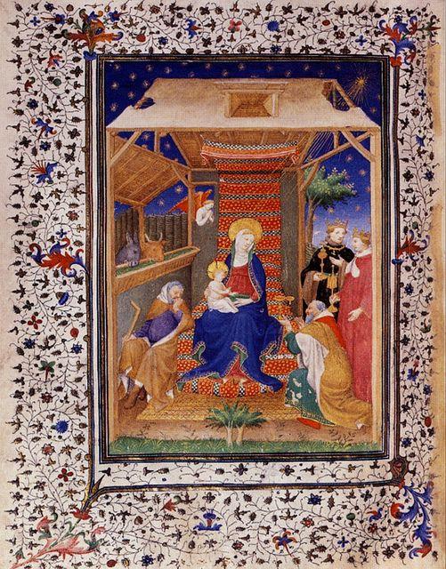 Adoration des Mages 1408 Heures_de_Boucicaut f83v musee Jacquemart-Andre
