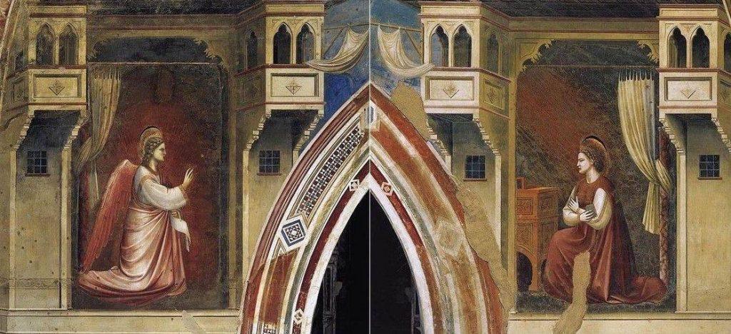 Annonciation 1303-05 Giotto chapelle scrovegni Padoue