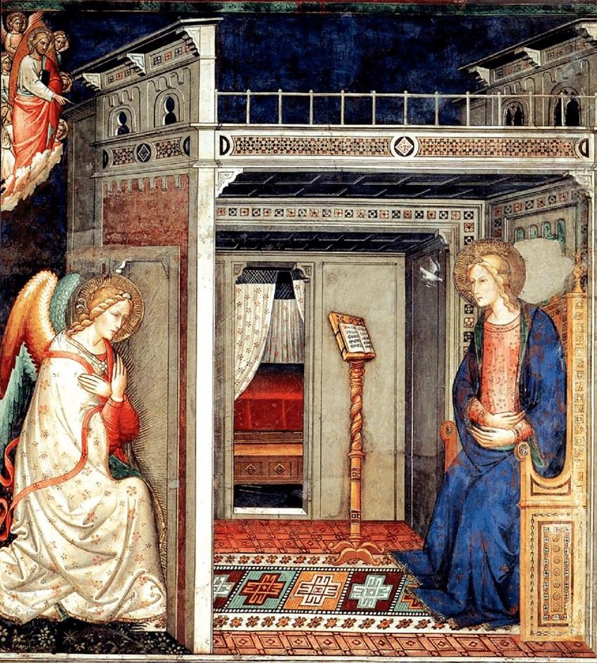 Annonciation 1370 ca Jacopo-di-Cione-Florence-Santa-Maria-Novella