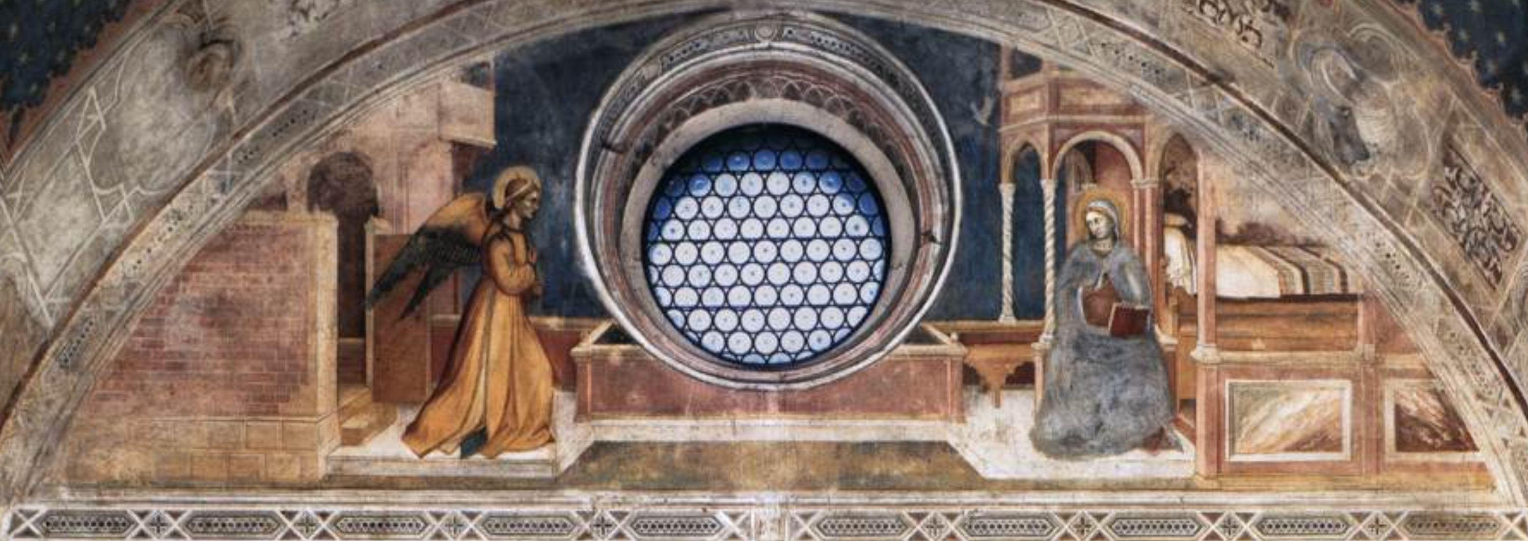 Annonciation 1379-84 Altichiero da Zevio Oratorio di San Giorgio Padova