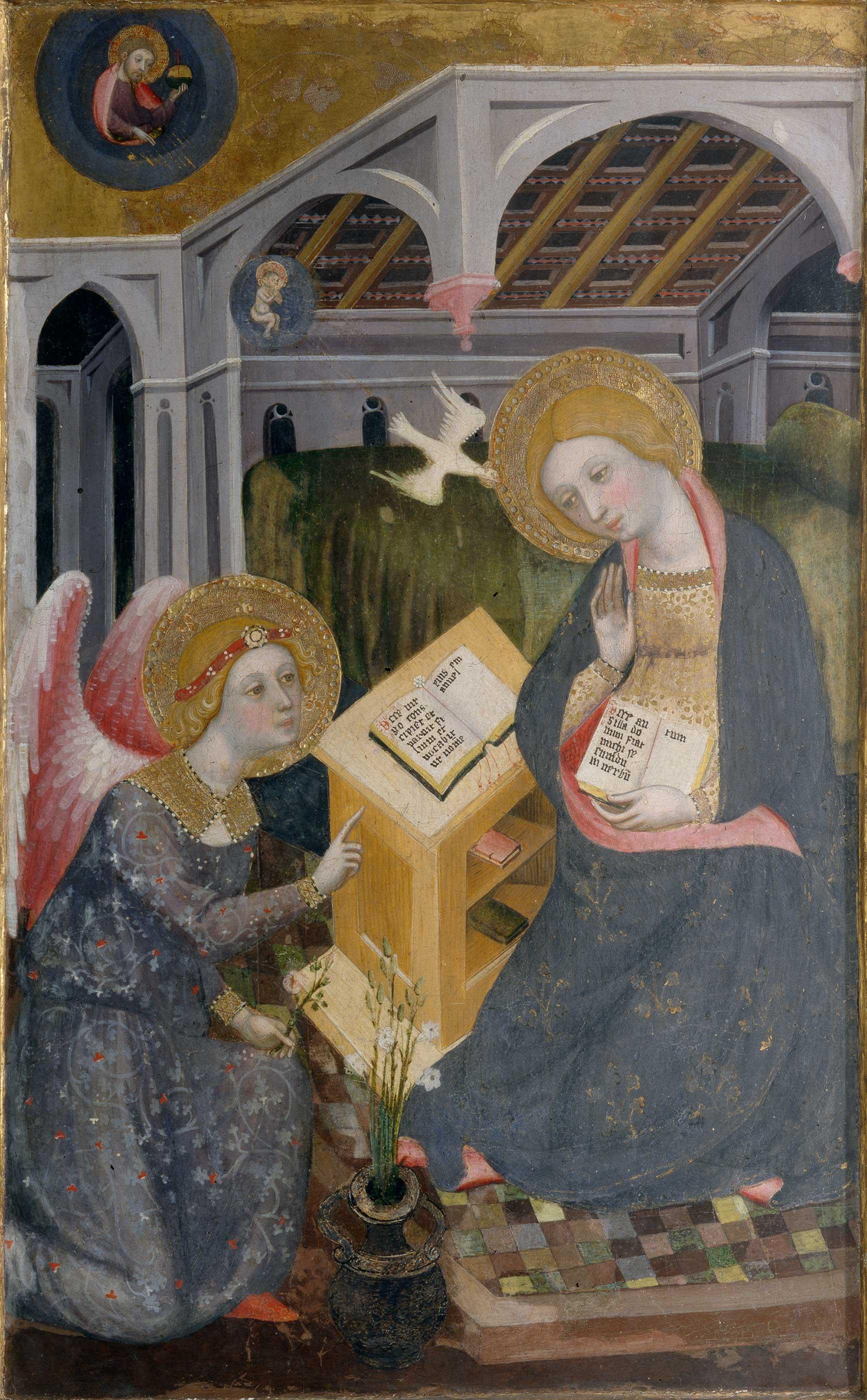 Annonciation 1404 Pere Serra Pinacoteca di Brera Milan