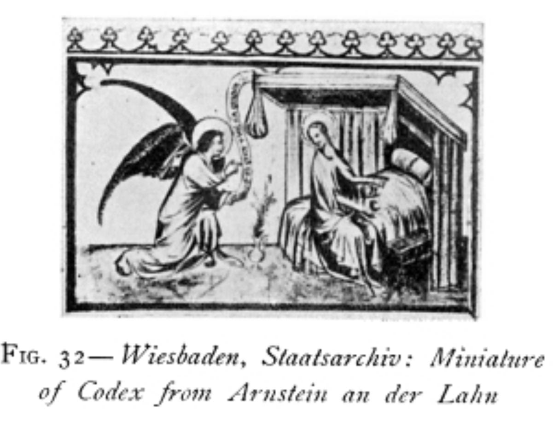 Annonciation 1410-20 codex arnstein an der lahn Robb fig 32