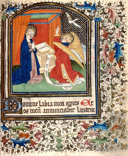Annonciation 1420-40 Heures a l'usage de Besancon Besancon BM 0122 fol 13