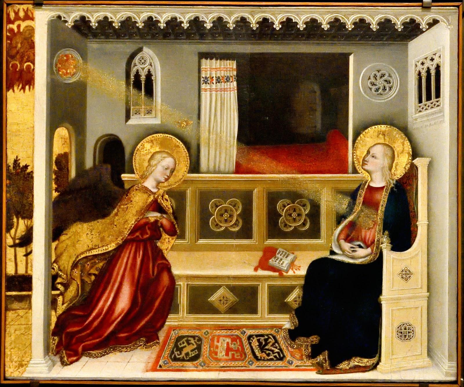 Annonciation 1423-25 Gentile di Niccolo di Giovanni di Massio detto Gentile da Fabriano Pinacoteca dei Musei Vaticani PhotoMassimo Gaudio