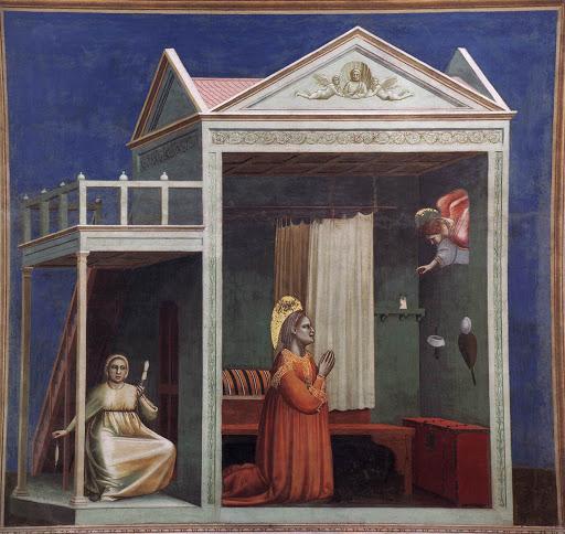 Annonciation a ste anne 1303-05 Giotto chapelle scrovegni Padoue