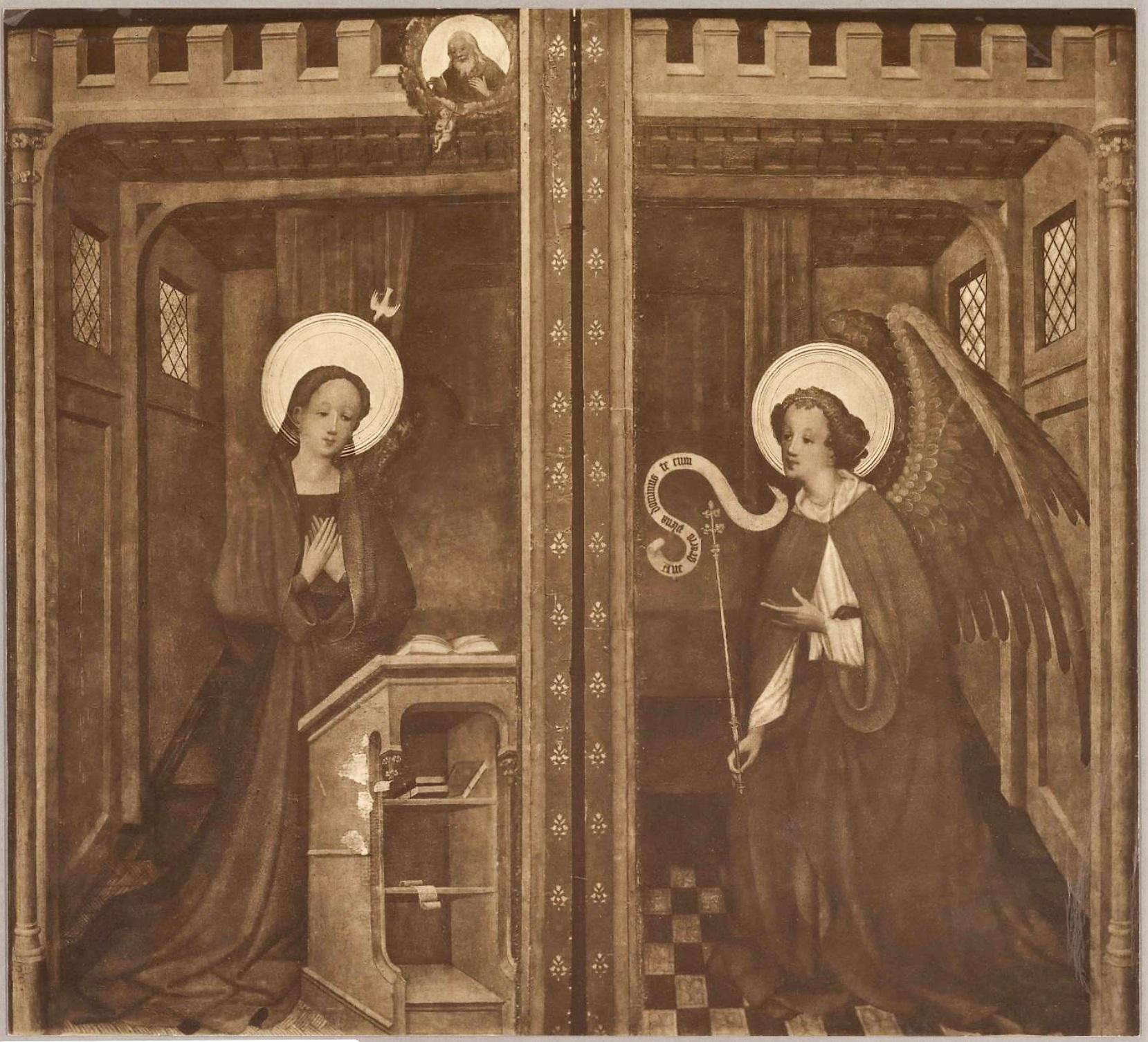 Hermann Wynrichs (attr) Annonciation 1420-30 Brenken altarpiece (exterieur) Bode Museum