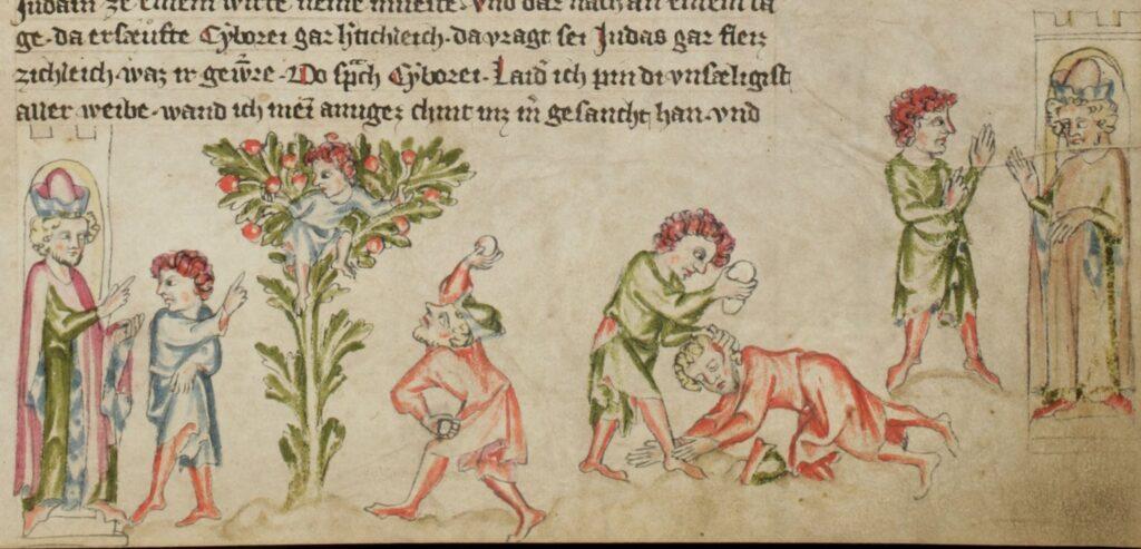 Judas et Pilate Schaffhausen, Stadtbibliothek Gen. 8 – Klosterneuburger Evangelienwerk f. 224r