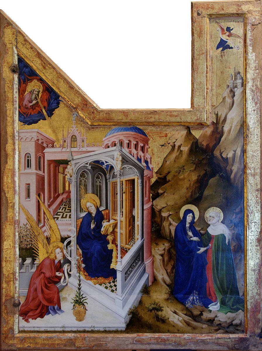 L'Annonciation 1398 Melchior_Broederlam Musee des BA Dijon