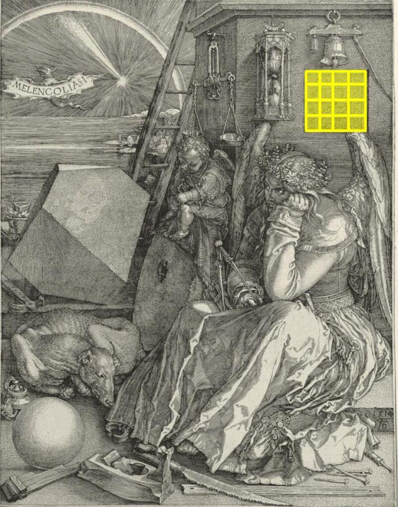 Melencolia I, Durer, 1514