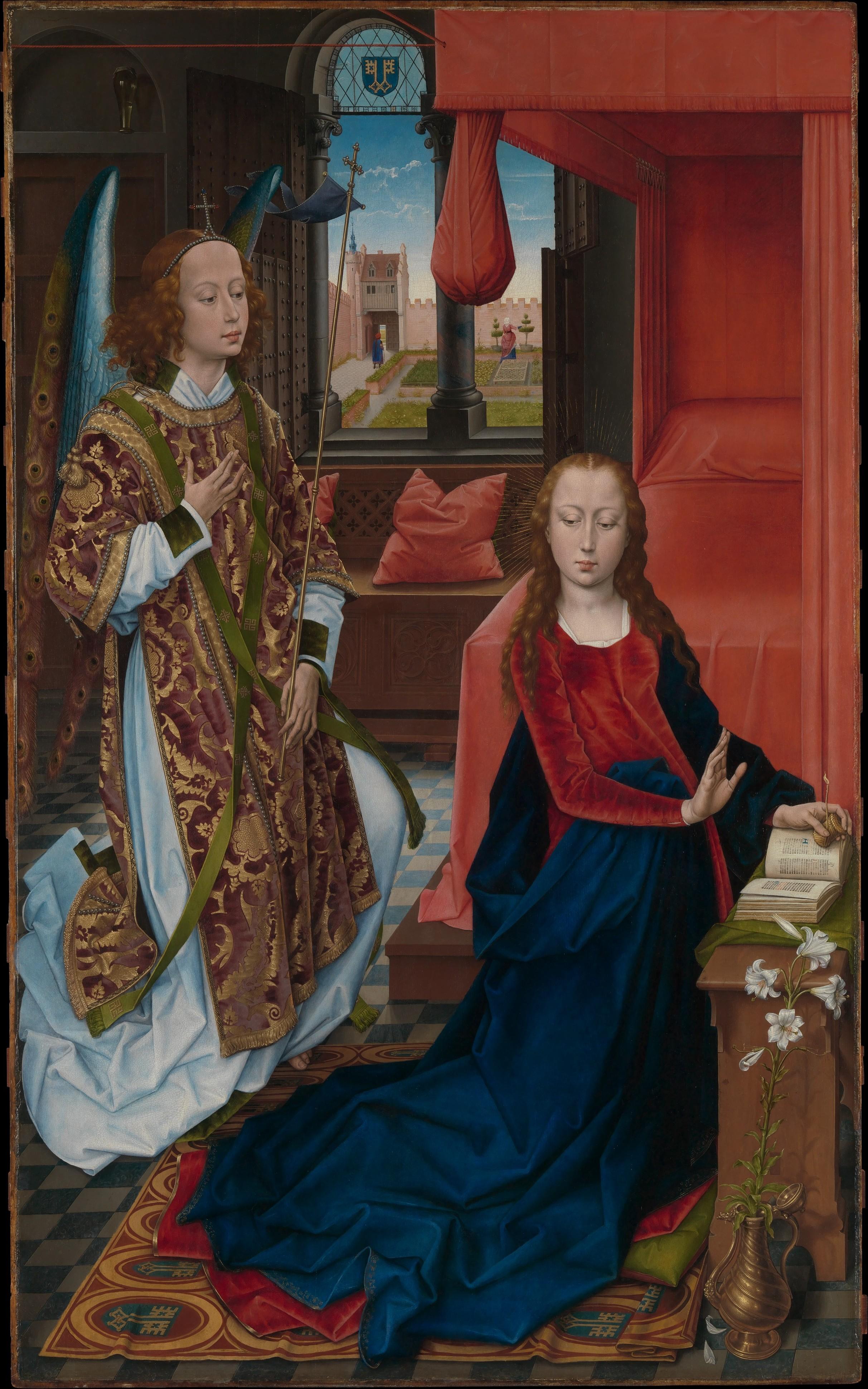Memling 1465 Annonciation de Clugny MET