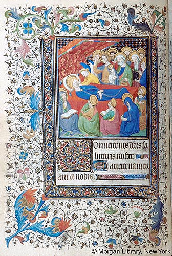 Mort de Marie 1417 ca Book of Hours France, ParisMorgan Library MS M.455 fol. 84v