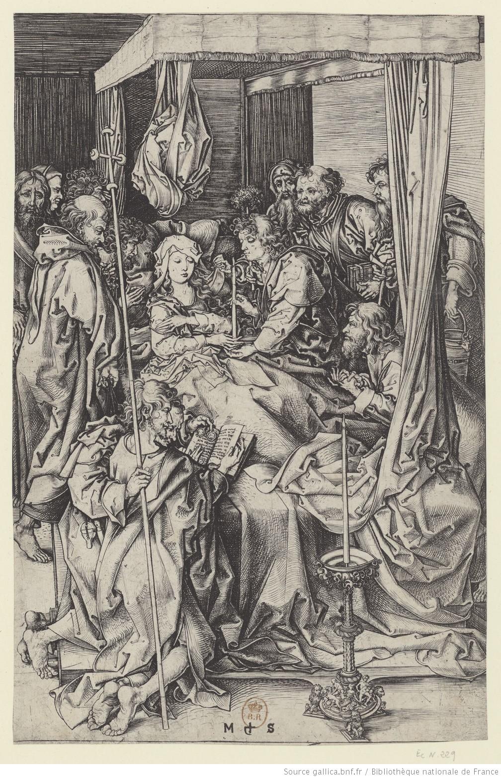 Mort de Marie 1470 ca Schongauer gallica